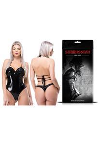 Body Erótico em Vinil Preto Sexy Fantasy