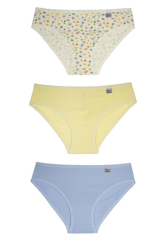 137e36f64 Calcinhas Infantil Kit com 3 Peças Miss DelRio 51354 -Le Lingerie