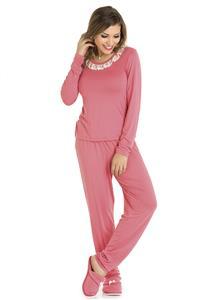 Pijama em Viscolycra Feminino com Pérola Bela Notte