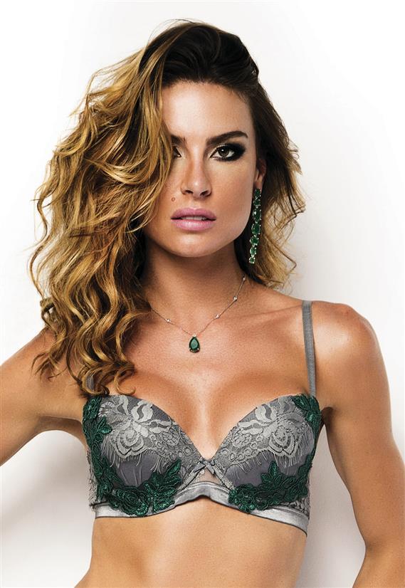 Sutiã com Aplicação e Renda Emerald De Chelles