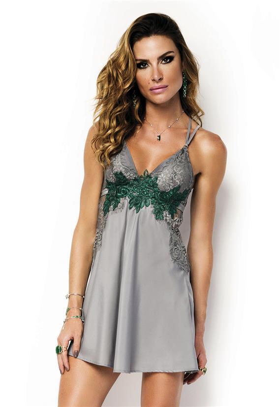 ba8d1f339 Camisola de Luxo com Renda Emerald De Chelles - Le Lingerie