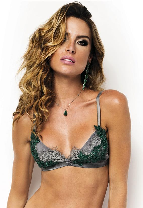 Sutiã Sem Bojo de Luxo com Renda Emerald De Chelles