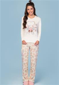 Pijama Feminino de Malha Cute Bear Lua Encantada