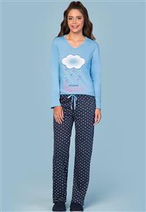 Pijama Azul Feminino Loving Lua Encantada