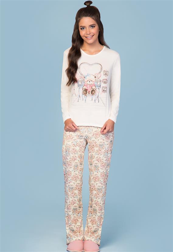 Pijama Moletinho de Ursinho Lua Encantada