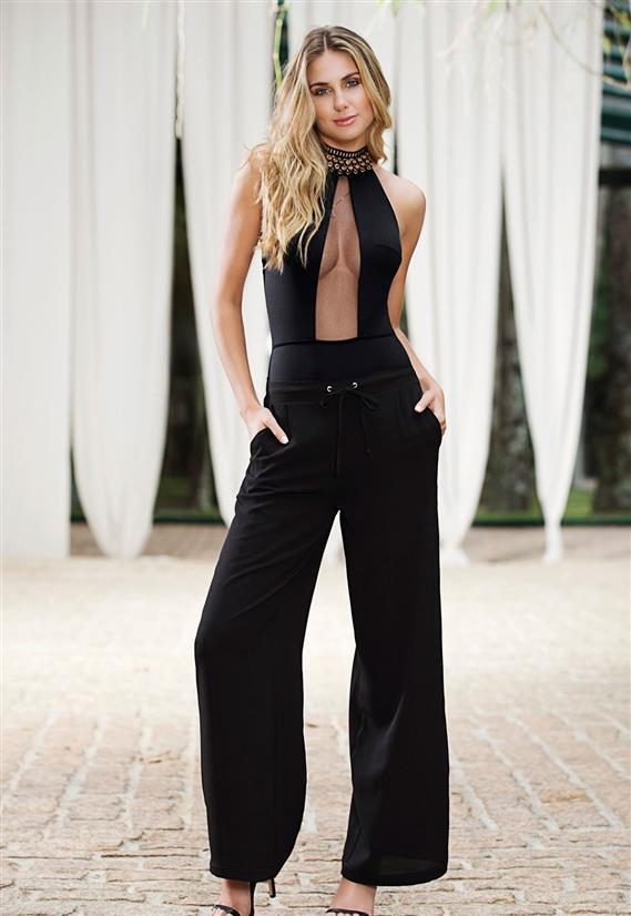 Body Frente Única Sexy de Luxo Belles