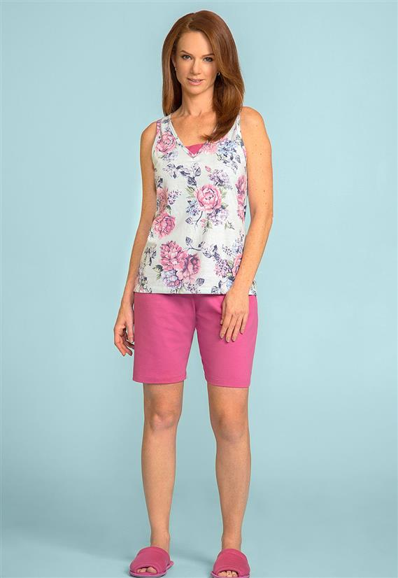 Pijama para Senhoras Bermudoll 105634 Lua Encantada