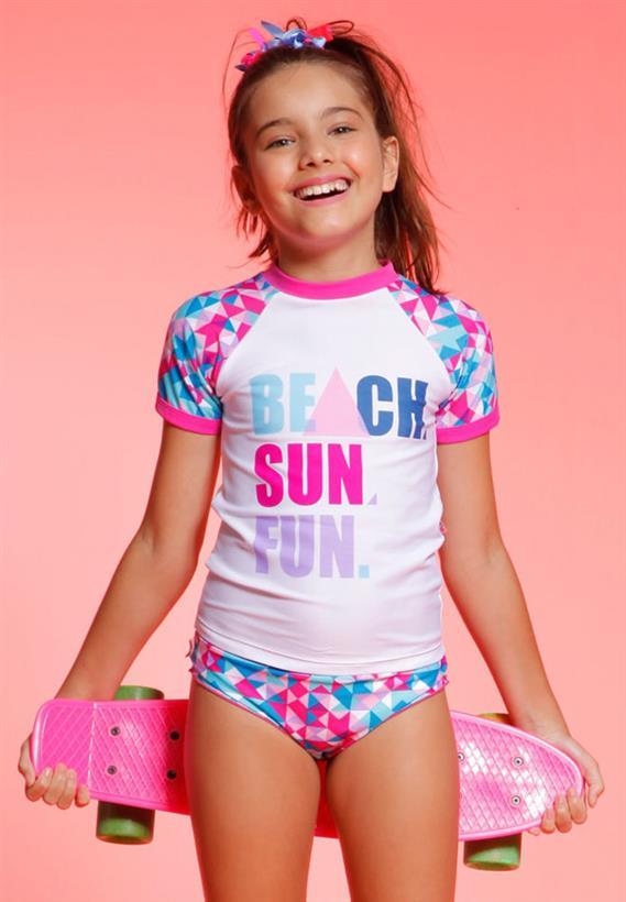 Camiseta Teen Geometrico Pixel Proteção UV FPS 50 Puket f8771f9068c