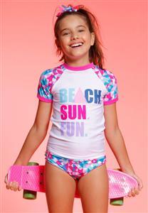 Camiseta Teen Geometrico Pixel Proteção UV FPS 50 Puket cd016a56e70