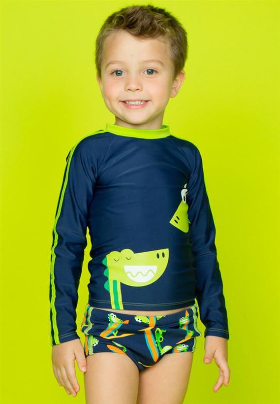 Camiseta com Proteção UV FPS 50 Dinossauro Puket 529b8bef51c