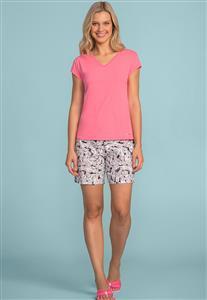 c4f691aaf Short Doll Comprido Rosa com Detalhe em Gatinho 106707 Lua Encantada