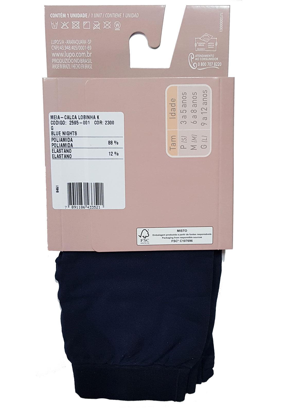 3b1358155 Meia Calça Legging Infantil Lupo Colors 2595-001