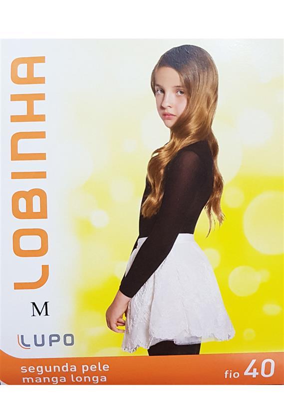 93513a5e3 Segunda Pele Infantil Manga Longa para Ballet Fio 40 Lupo 860-001