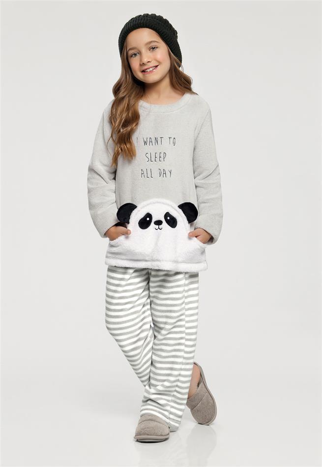 ebf7669e8f Pijama Manga Longa Infantil Panda 67395 Cor Com Amor - Le Lingerie