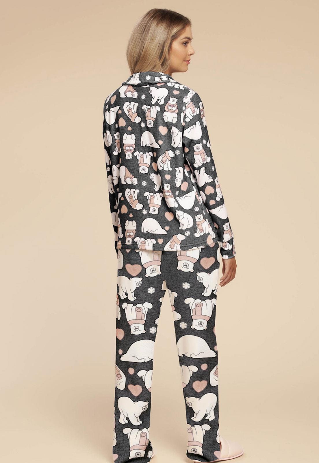 83b5d90d8f635b Pijama Soft Urso Feminino 014925 Mensageiro Dos Sonhos - Le Lingerie