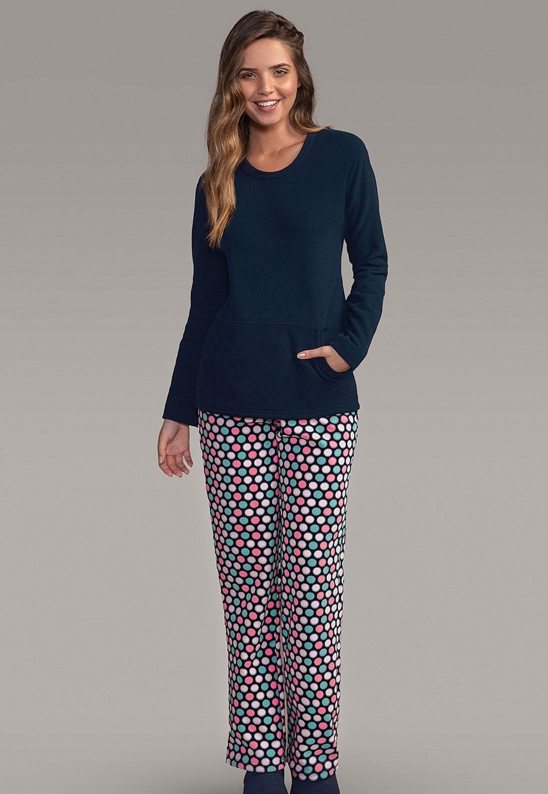 8fa96cecb Pijama Feminino Soft Bolinhas 151029 Lua Encantada - Le Lingerie