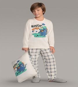 597f389492 Pijama Masculino Infantil Moletinho 141123 Lua Encantada