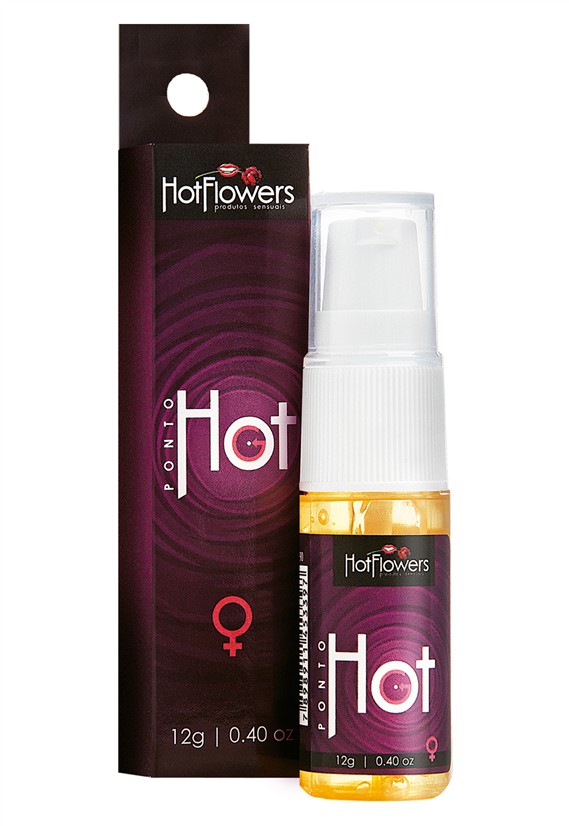 Gel Corporal Ponto Hot G Hot Flowers 12g