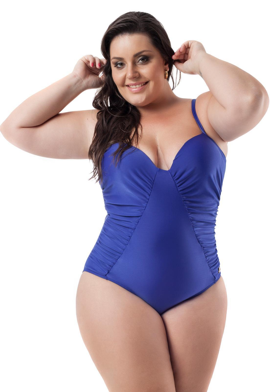 d53f6750c Maiô Plus Size Liso Guarujá Acqua Rosa