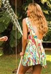 Vestido Decote Quadrado De Chelles Acqua