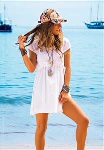 Vestido Branco de Algodão De Chelles Acqua