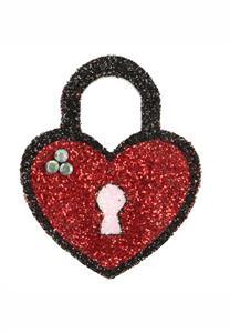 Tatuagem Adesiva Cadeado Coração com Strass II Bijoux de Pele
