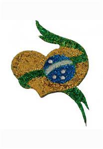Tatuagem Adesiva Coração Copa do Mundo Bijoux de Pele II