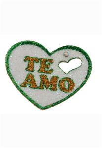 Tatuagem Adesiva Coração. do Brasil Te Amo Bijoux de Pele