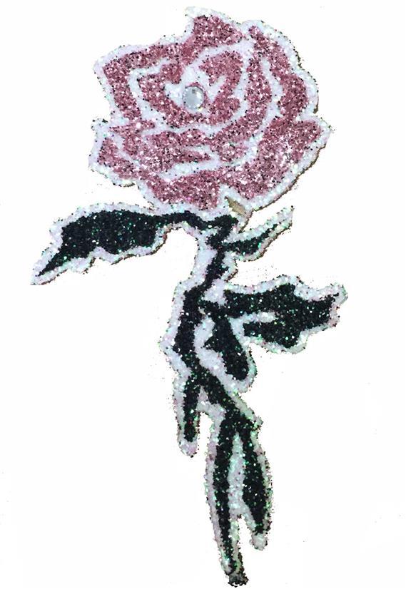Tatuagem Adesiva Rosa com Strass Bijoux de Pele