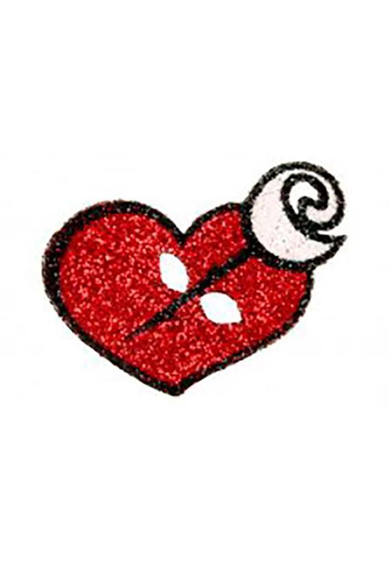 Tatuagem Adesiva Coração. com Rosa Bijoux de Pele