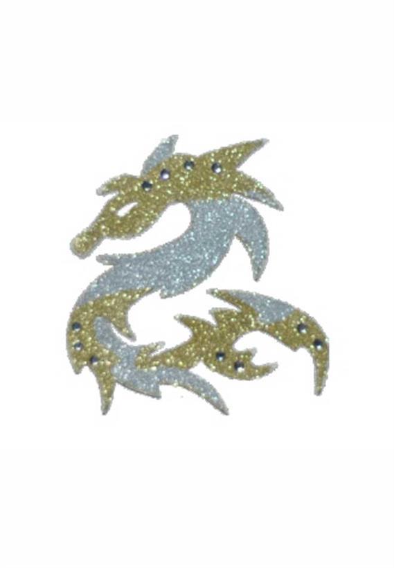 Tatuagem Adesiva Jóia de Pele Dragão com Strass Bijoux de Pele