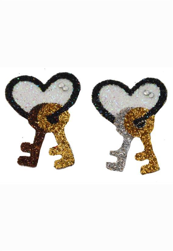 Tatuagem Adesiva Coração com Chaves Bijoux de Pele
