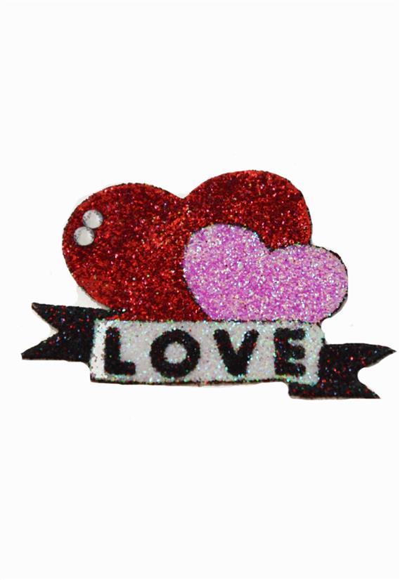 Tatuagem Adesiva Dois Corações Love Bijoux de Pele III