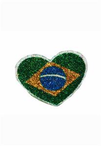 Tatuagem Adesiva Coração Brasil Bijoux de Pele