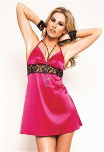 Camisola em Cetim Quero Muito....Tudo Pink!!! De Chelles