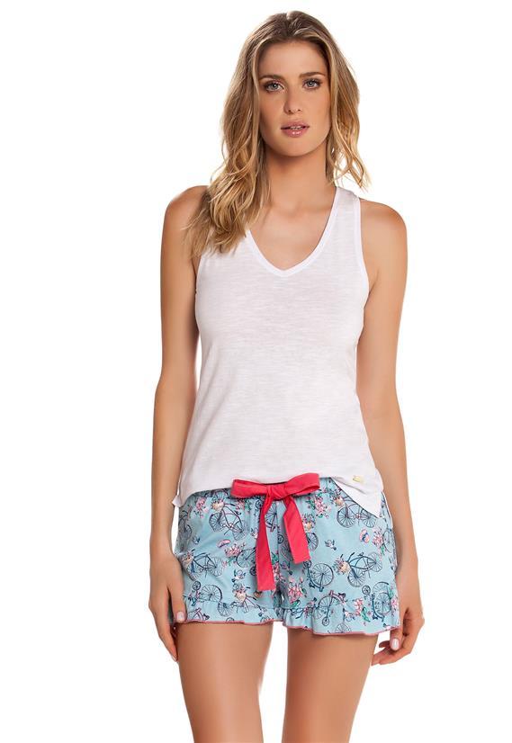 Pijama Curto com Regata Cor com Amor