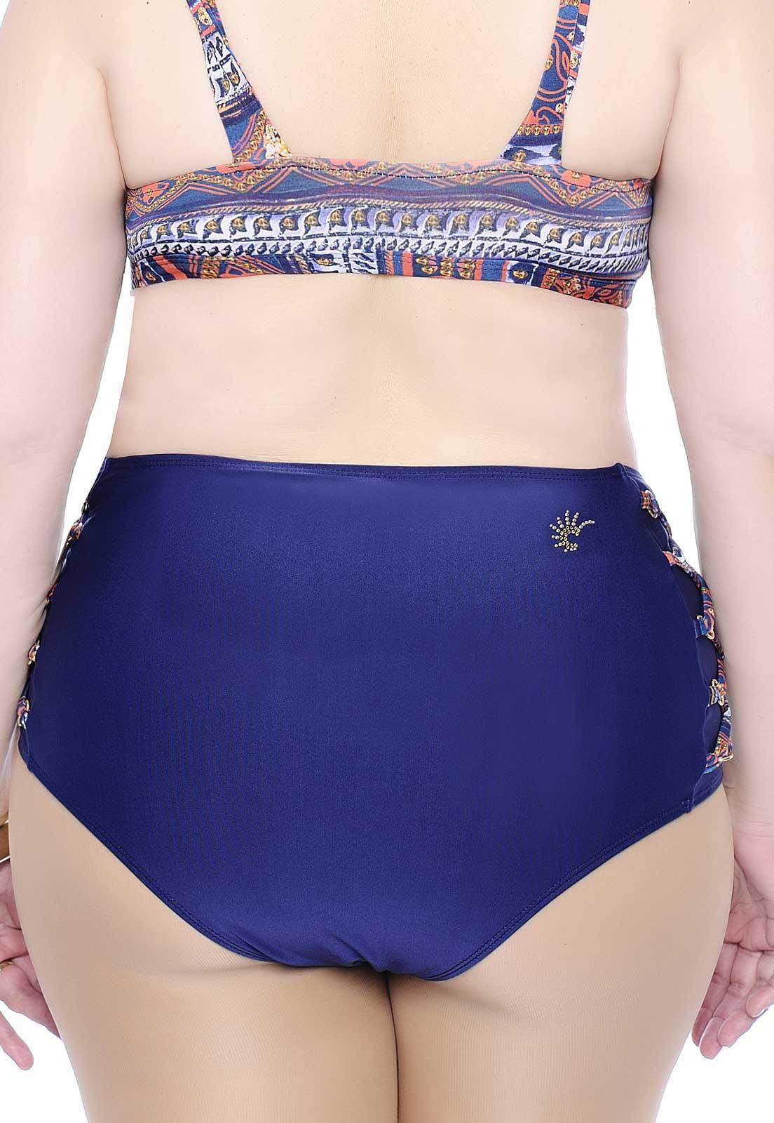 e90a16a79 Biquíni Tanga Plus Size Hot Pants com Detalhe - Belle Plage